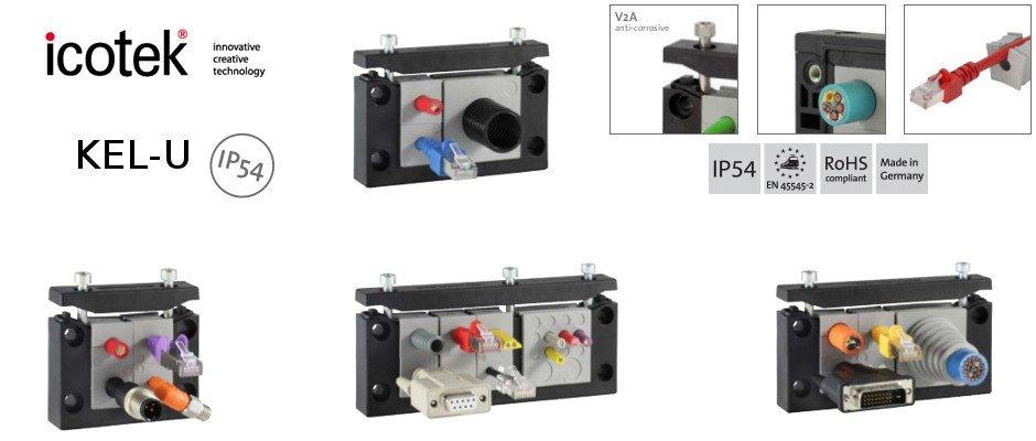 Icotek KEL-U cable entry frames IP54