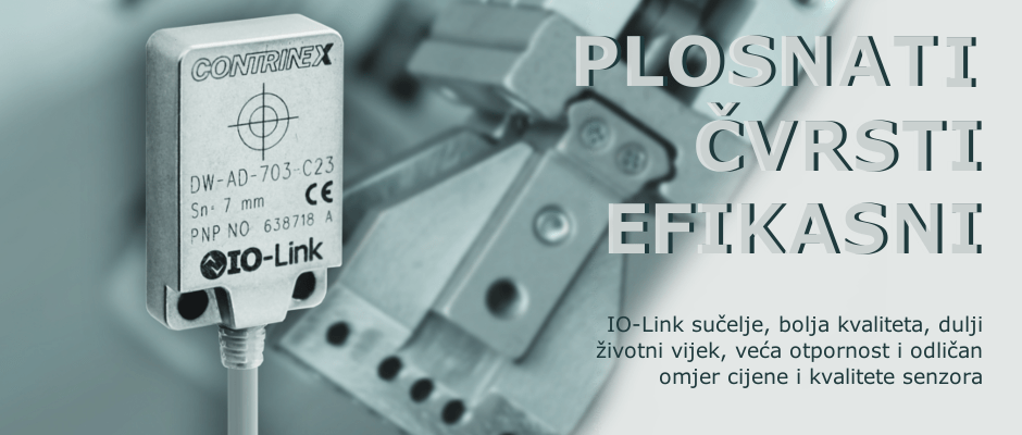 C23 Full Inox Extreme serija induktivnih plosnatih metalnih senzora – plosnati, čvrsti, efikasni