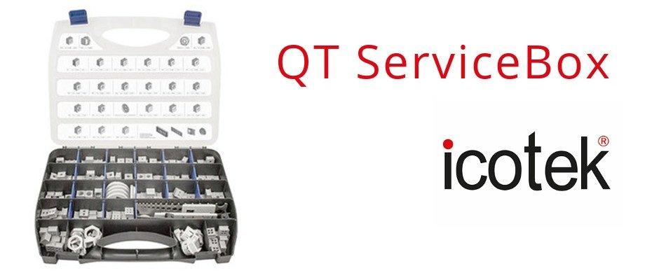 Service box for QT cable grommets