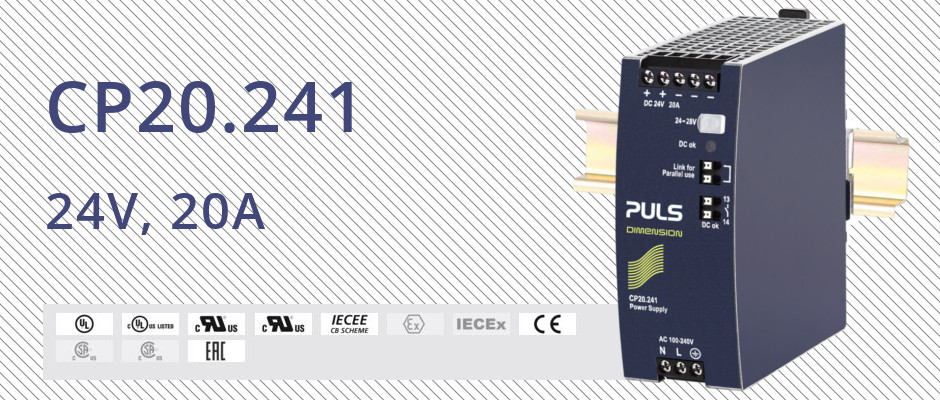 Power supply CP20.241: 24V, 20A