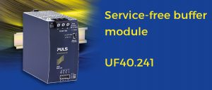 Reliable and service-free buffer module for 24V-systems