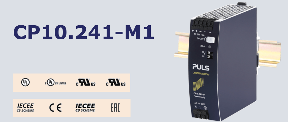 CP10.241-M1: DIN rail power supply for medical technology