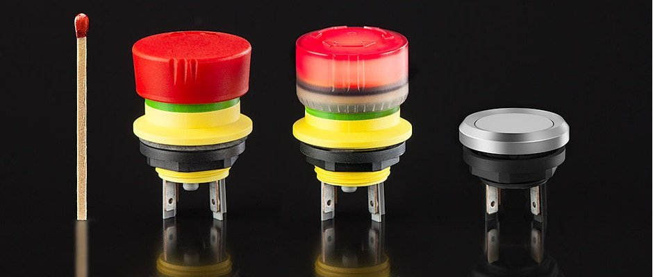 Sehr kompakte Befehlsgeräte-Baureihe – mYnitron – Einbauöffnung Ø 16,2 mm