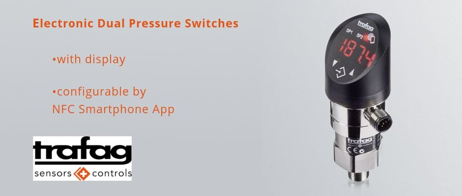 Read more about the article Electronic Dual Pressure Switches with display DPx 838x – configurable by NFC Smartphone App