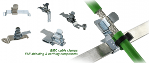 EMC cable clamps
