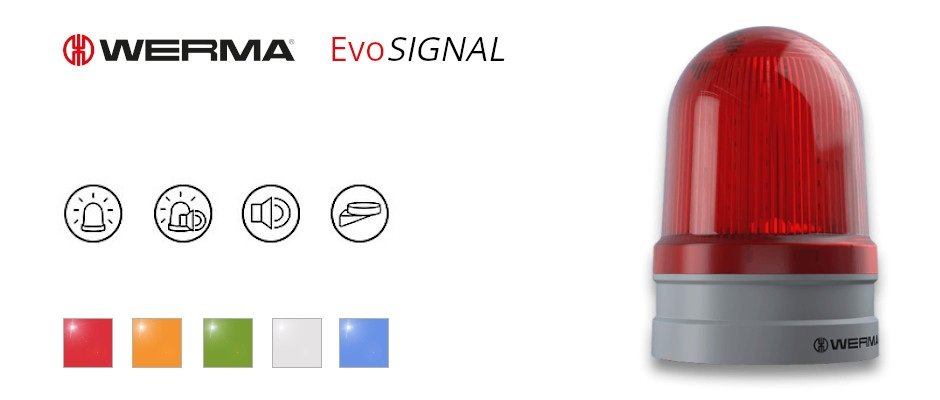 Read more about the article Werma presents EvoSIGNAL – a modular system to quickly find the right signalling solution