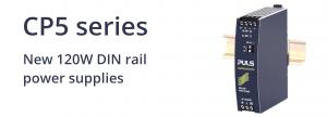 CP5 series: Wide range of new 120W DIN rail power supplies