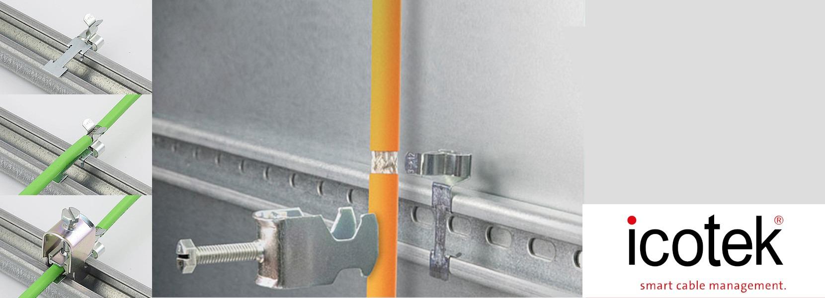 LFC – EMV Schirmklammern für Bügelschellen zur Montage auf C-Schienen