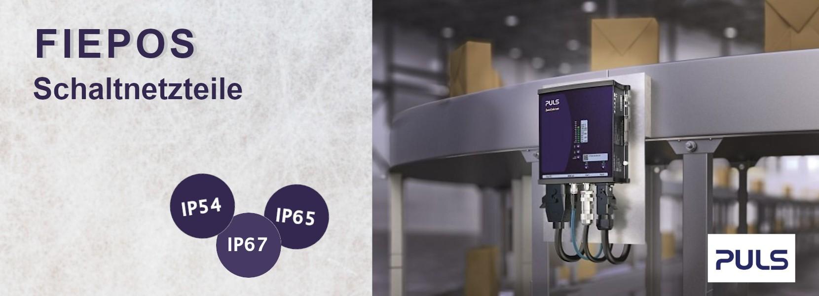 FIEPOS – IP54, IP65 und IP67 Schaltnetzteile