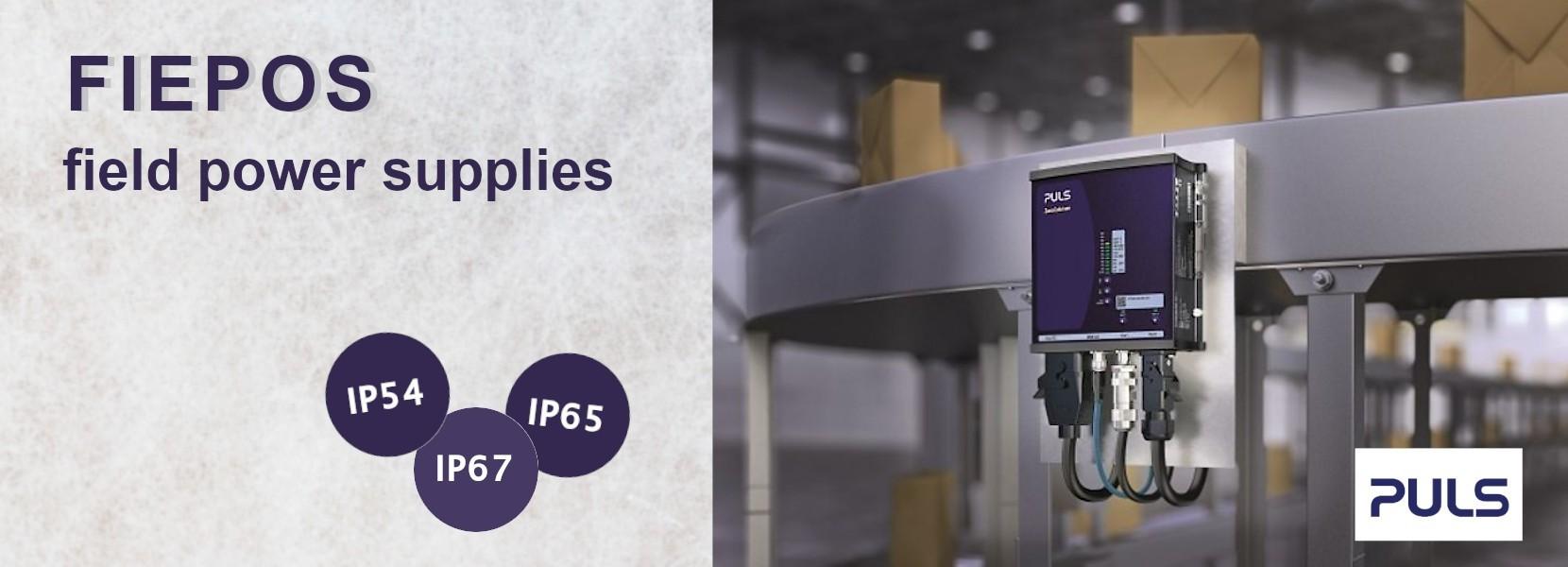 FIEPOS – IP54, IP65 and IP67 field power supplies