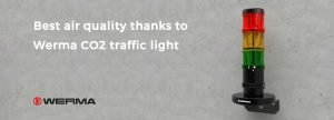 Best air quality thanks to Werma CO2 traffic light
