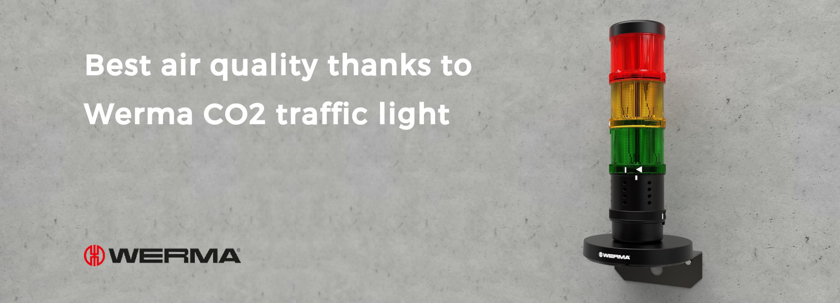 Read more about the article Best air quality thanks to Werma CO2 traffic light