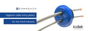 Hygienic cable entry plates for the food industry