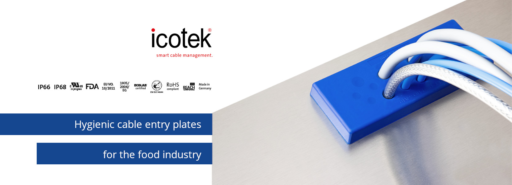 Read more about the article KEL-DPU-HD hygienic multi-membrane cable entry plates