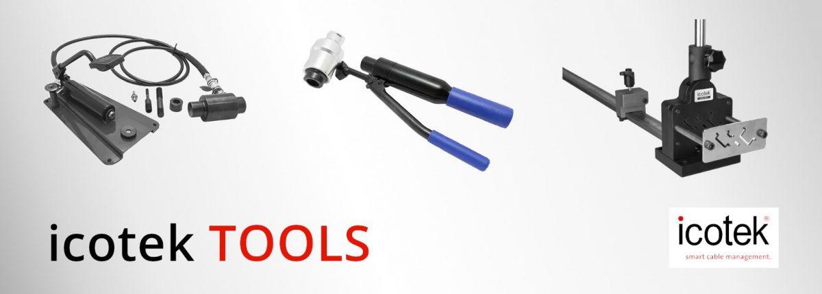 icotek TOOLS - Hydraulic punch drivers and rail cutter - Varga Elektronik